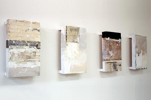Wandobjekte • Collage/Acryl • 50 x 30 x 15 cm