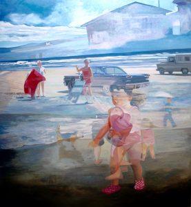 Le bruit de la plage (Corrida) • Öl auf LW • 130 x 120 cm