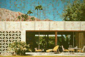 Palm Springs I, 100x150, Acryl,Papier,Leinwand, 2016