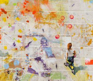 'Carrying Owls to Athens', Acryl und Oel auf Leinen, 80 x 90 cm, 2018