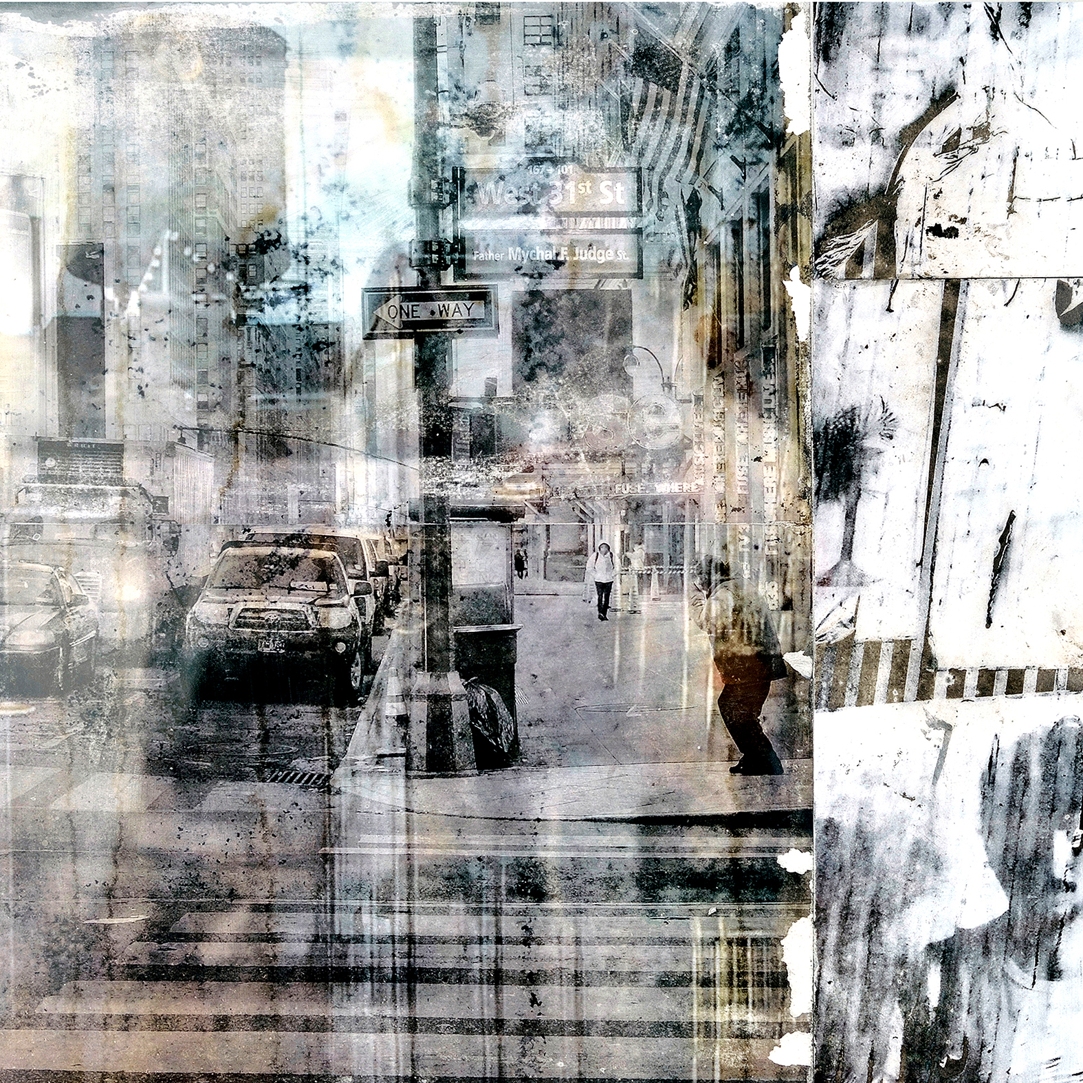 NYC • Fotografie, Öl auf Leinwand • 120 x 120 cm